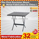 kindle 2014 new professional customized galvanized folding plastic feet for metal chairs