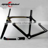 Wholesales Matte surface 2016 new carbon road bike frame T800 carbon fiber frame, Available size XXS XS, M, L