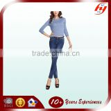 high quality custom woman sexy pencil denim pants ladies stretchy jeans OEM manufacturer