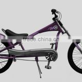 Hot selling aluminum alloy 26 inch fat tire electric chopper bicycles / mountain bike with