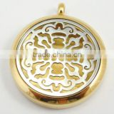 Fashion Gold And Silver Old World Cross Aromatherapy Essential Oils Diffuser Locket Necklace Pendant