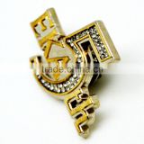 Perfect In Workmanship Anniversary Of The Company Crystal Letter Lapel Pin Manufacturers China