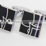 NEW classic enameled elegant customize metal cufflinks in low price                                                                         Quality Choice