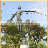 Metal Figure Sculpture Large Size Nude Woman Bronze Statue For Decoration