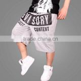 2015 Newest Cool custome printing harem pants with hip hop clothing and mens hip-hop trousers with low price