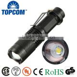 T6 LED Small Pocket Torch Light Tactical Zoomable LED Flashlight with Clip                                                                         Quality Choice