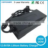 12.6V 5A Charger Combination of 18650 Li-ion Lithium Battery Pack Charger 5.5mm US EU UK Plug