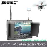 7 inch wireless audio video transmitter receiver lcd monitor built in battery 32 ch 5.8g drone parts