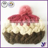 Fashion knitted hats Wool felt beret with pom poms factory professional sales (can be customized)