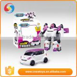Best gift for boy plastic white deformation children electronic toy car