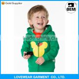 2015 Wholesale custom designs high quality cotton fleece pullover hoodie for children