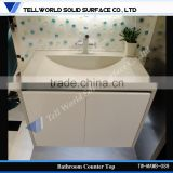 Custom made hotel bathroom countertops , solid surface countertops