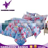 Colorful Flowers Printing Fashion Bedding Set with Duvet Cover Bed Sheet Pillowcases
