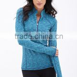 Great performance sportswear wholesale stretchable fabric ladies running plain hoodie jackets with thumb holes