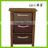 durable carbinet with rattan storage basket for room decration and storage fashion!fashion!