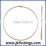 1/20 14K Gold Filled Jewelry Findings .70x45.0mm Wire Beading Hoop
