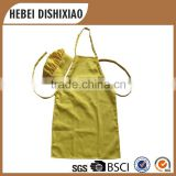 Kid Bib Yellow Cooking Apron And Chef Hat Apron Set For Children