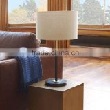 11.23-9 small spaces on desks and side a slim profile and flat metal base Modern metal Black Telescoping Table Lamp