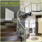 PEMCO 201/304 railing&handrail system outdoor indoor mirror polished stair stainless steel handrail