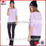 Fashion scoop neck oversized knitted sweater / woman sweater                                                                         Quality Choice