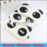 panda-like furry eye mask for a good sleep