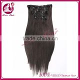 China wholesale brazilian hair , unprocessed indian hair,cheap real hair extensions clip in hair