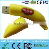 Worldwide banana lovers usb drive/ banana bare usb drive/ banana usb drive 3D logo