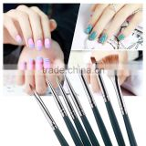 DIY Professional 7pcs/Set Polish Brush Set Nail Art Design painting Tool Pen Gel UV Nail Print Brush Kit