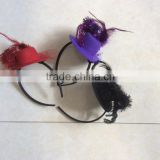 fancy colourful mini top hat headband with spider