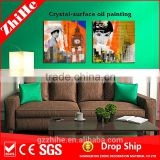 wholesale dropshipping nude sexy paintings glass painting pictures artwork painting on canvas classic for modern home decoration