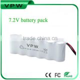 Hot product! Good quality 7.2v 300mah ni-cd battery pack /sc 1800mah 7.2v rechargeable battery