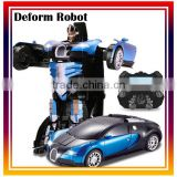 2.4Ghz Radio Remote Control RC Car Deform trans robot toy car