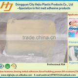 Light yellow transparent glue for diapaper,environmental hygiene glue,professional pressure sensitive adhesive(PSA)