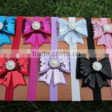 "Soft Stetch Baby Headbands with 2.75""Embroideried Sequin and Pearl Stone New Design FOE Headbands"