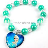 2014 popular frozen bracelet,elsa's heart bracelet,sister bangle