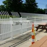 Zinc coated steel picket fence/black PVC coated galvanized zinc tubular steel fence/wrought iron decorate fence