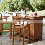 Home kitchen outdoor storage modern wood bar counter cabinet with bar stools