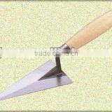 wooden handle carbon steel bricklaying trowel