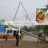 Tripod erecting pole machine,wire cable machine,communication machine