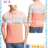 latest designs White Orange Black Striped Collar Tee Polo T-shirt for men