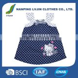 Wholesale Baby Infant &Toddler Clothing New Style Beautiful Hello Kitty Little Baby Dress and Short 100% Cotton Poplin