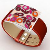 Women Leather Enamel Bracelet Bangle Classic Modern OEM ODM