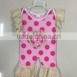 polka dots cute infant romper wholesale summer kids clothes