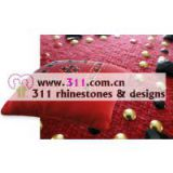311 pillow rhinestone studs copper studs hot-fix heat transfer rhinestone motif design 1