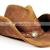 Leather Cowboy Hat