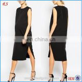 New style high quality fashion pregnant women latest dresses comfortable black maternity dress