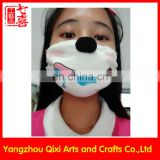 New designs protective emoji mask plush animal toy face pollution dust mask
