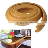Baby Safety Stripe Style Baby Table Edge Guard Soft Edge Cushion, Length: 2m (Yellowish Brown)