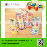 creative stationery rubber /colorful fruit ring patten Eraser for children study