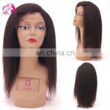 Hot Selling Wholesale Human Natural Aliexpress 8a Grade Virgin Remy Hair Extension Kinky Straight Yaki Hair Lace Front Wig
